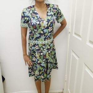Floral Print Paisley Silk Dress Size 6
